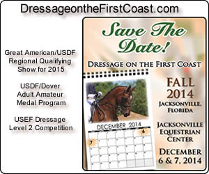 Dressage on the first Coast Fall 2014 Region 3 Recognized Show