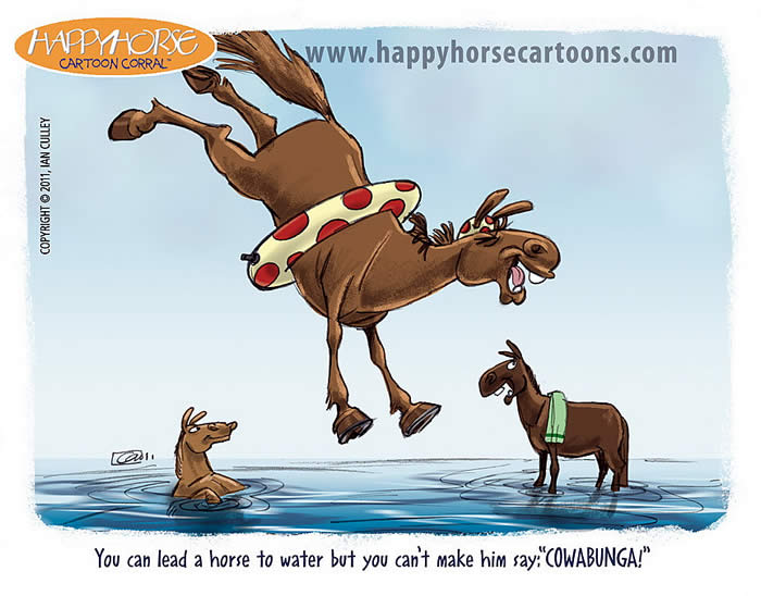 you can bring horse to water