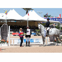 Annie Cook won $2,000 in bonus money after winning the $15,000 High Amateur-Owner Jumper Classic