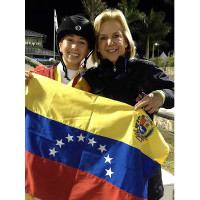 Step by Step founder Liliane Stransky and her daughter Daniela Stransky, member of the Team Step by Step and Venezuelan Junior Bronze Winning Team