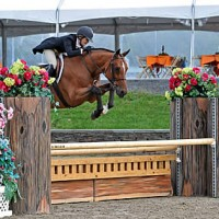 ©ESI Photography. Louise Otten and Revelstoke jump their way to a win in the HITS $250,000 Hunter Prix Final