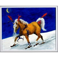 """The Chronicle of the Horse selected Louise Mellon's """"Horse on Skis"""" for its holiday issue"""