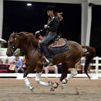 Nicole Shahinian-Simpson proves she can cowgirl up