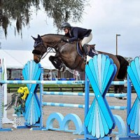 ©ESI Photography. Callan Solem and Cortender jump to a win in the $2,500 Brook Ledge Open Welcome