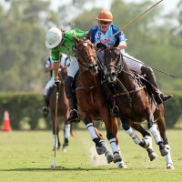 McKenney playing in the Gay Polo Tournament at Grand Champions Polo Club. Photo by Mark Finerty.