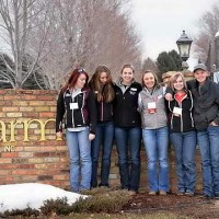 Attendees of the American Youth Horse Council's annual symposium in 2014 visited horse farms including Ames Percheron Farm in Jordan, Minn. Photo courtesy American Youth Horse Council.