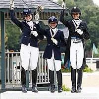Junior Individual medalists (from left) Cassie Schmidt, Camille Bergeron, and Molly Paris (SusanJStickle.com)