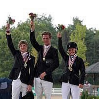 CCI2* Individual medalists (from left) Calvin Ramsay, David Ziegler, and April Simmonds (Brant Gamma Photography)