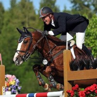 Rich Fellers and Flexible won the opening World Cup Qualifier at Thunderbird Show Park. Photo courtesy of client