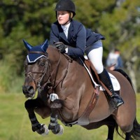 (c) ESI Photography. Samantha Schaefer and Sugar Ray win the $2,500 Pyranha Amateur Jumper Classic.