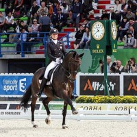 Adrienne Lyle and Wizard at the 2014 Alltech FEI World Equestrian Games. Photo by Rebecca Walton.