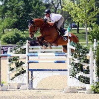 Scott Keach captured the $5,000 1.45m Open Jumper victory with Fedor