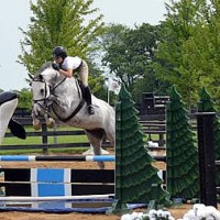 Caroline McLeese and Caprisio clear the water