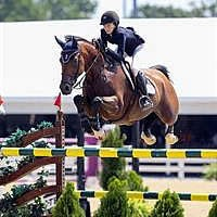 Jumping Young Rider Individual Gold medalist Lucy Deslauriers and Hester (SusanJStickle.com)