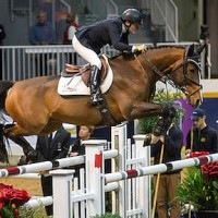 Leslie Howard of the United States placed second riding Utah