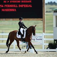 Makenna Rold and Fernhill Imperial, CH-J* dressage leaders (Sportfot)